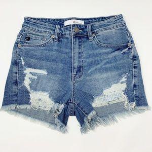 Casual Friday Distressed Denim Shorts